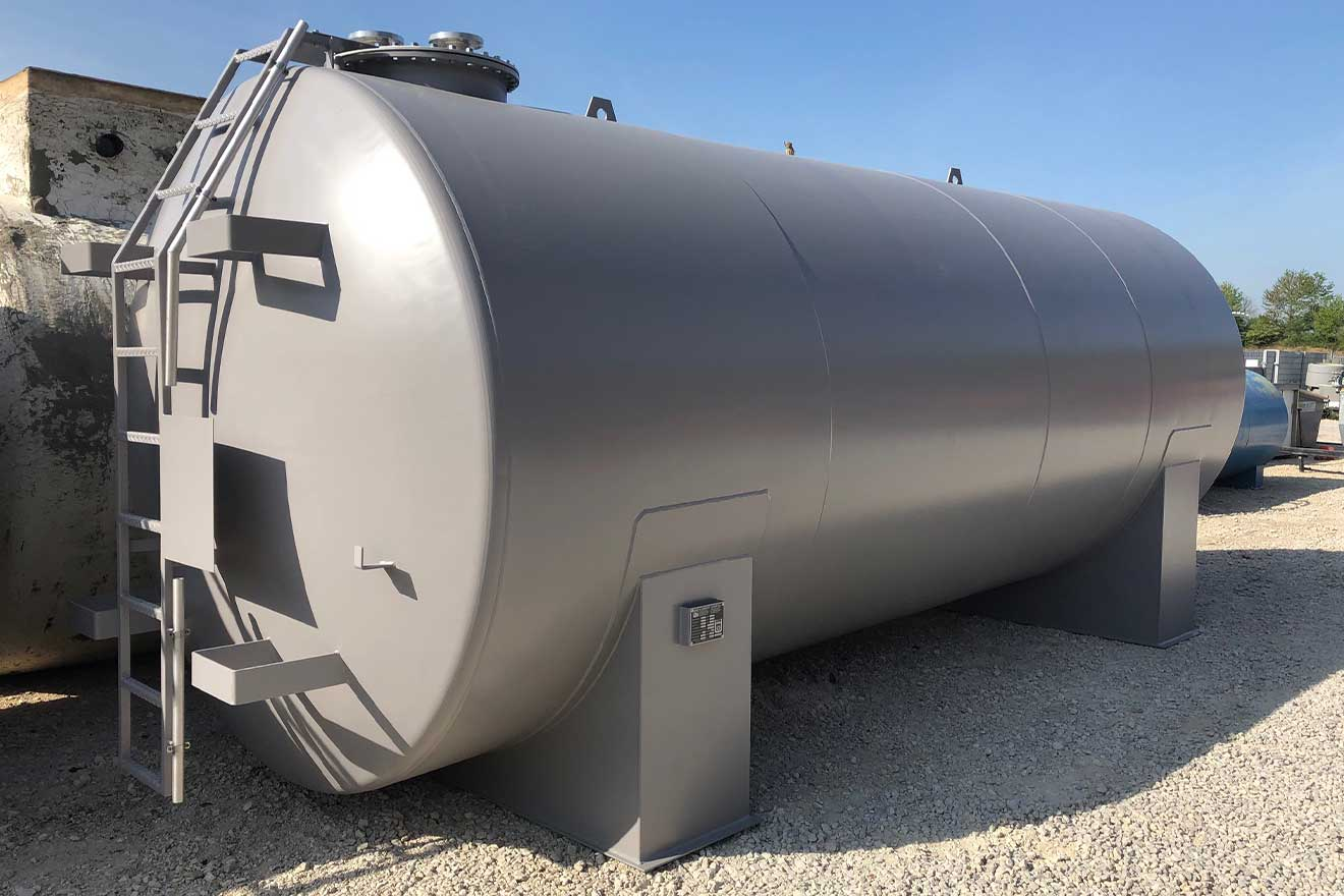10.000 l einwandiger Stahltank nach DIN 6625